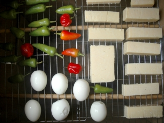 cold smoking cheese, eggs and chillis