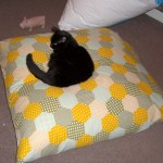Upcycle an old duvet cover into a frugal bean bag
