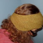Swirly ear warmer